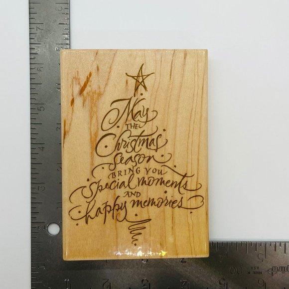 Sentiment Tree Hampton Art Rubber Stamp